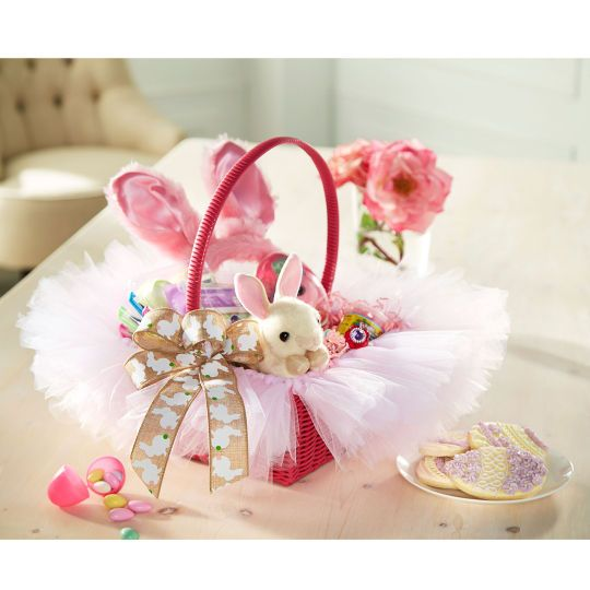 Add tulle to create the perfect Easter basket for your little bunny!