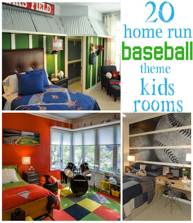 20 Home Run Baseball Theme Kids Rooms - Design Dazzle