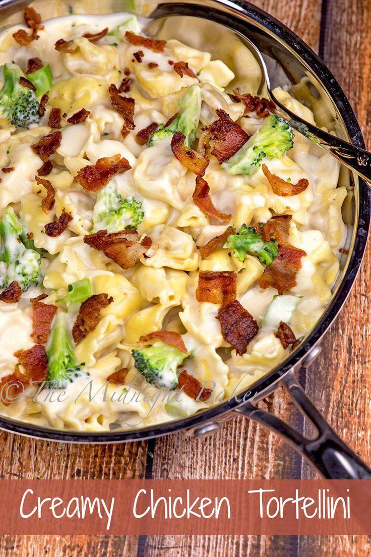Creamy Chicken Tortellini | bakeatmidnite.com | #tortellini #chicken #recipe