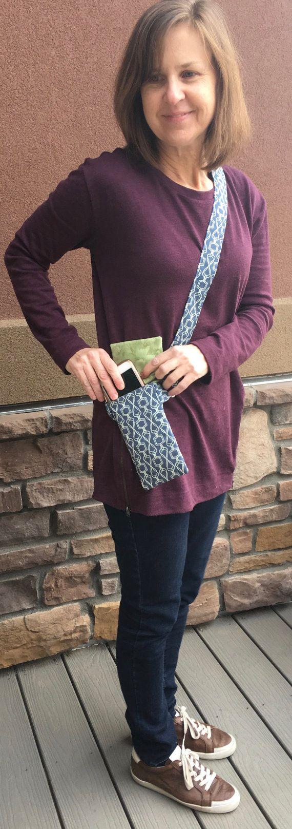 Womens' cross body Purse Cell Phone Purse sling by hatsbyanne1942