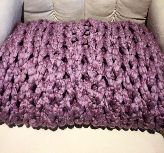 Purple Throw by DelandMadeCreations on Etsy