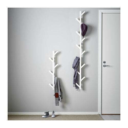 IKEA TJUSIG Hanger White 78 Cm The Hanger Helps You Transform An Empty Wall  Into A Practical Storage Space For Clothes, Bags And Shoes.