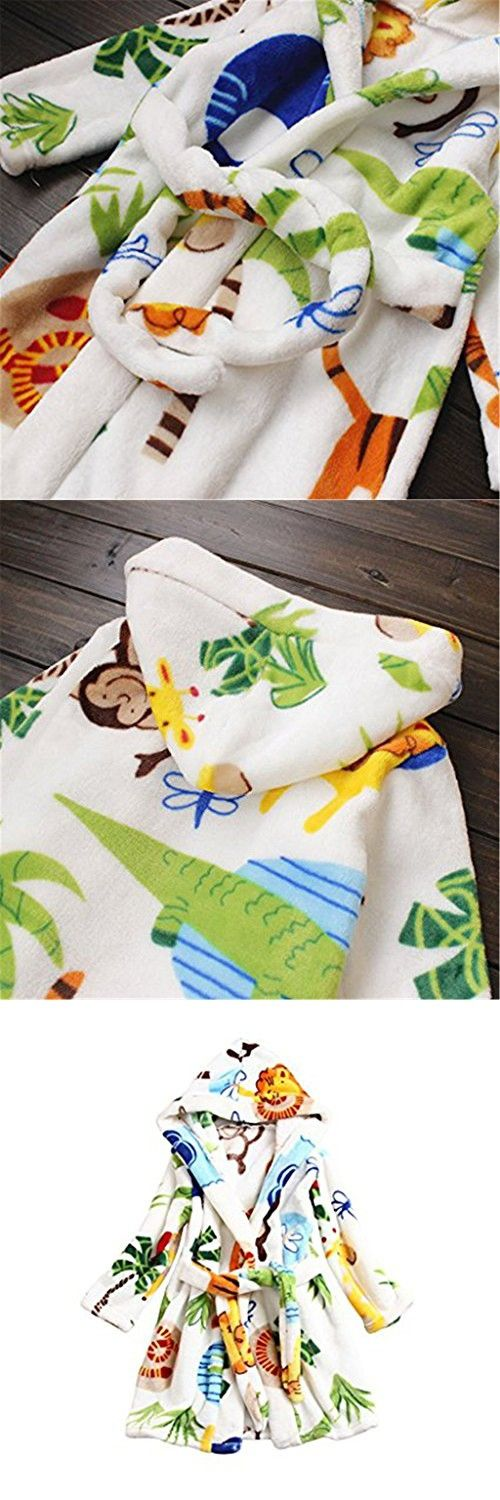 Toddlers/kids/baby Soft Fleece Bath Robe Bathrobe Pajamas Sleepwear 120cm