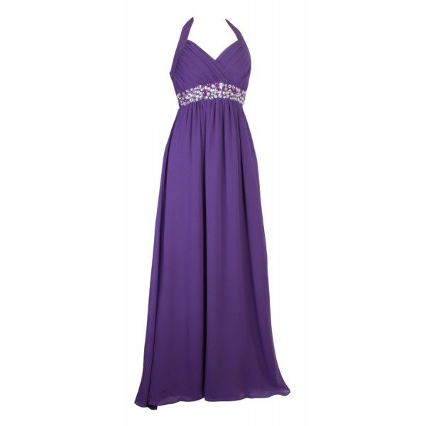 Long purple bridesmaid dresses long cadbury 39 s purple for Purple maxi dresses for weddings