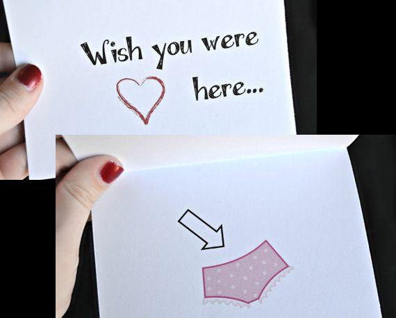 Wish You Were Here! Sexy / Naughty card