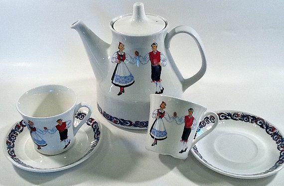 Norwegian Figgjo Flint Tea Set