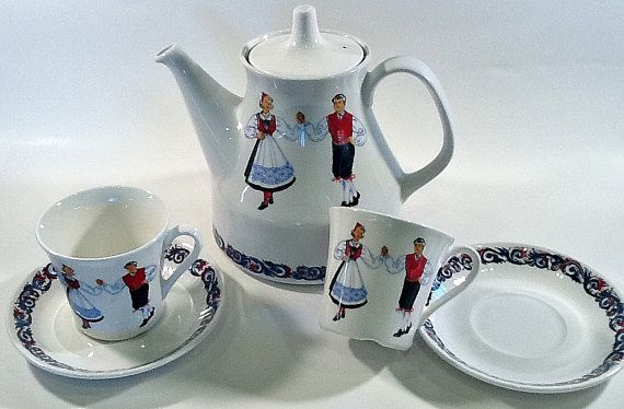 Norwegian Figgjo Flint Tea Set