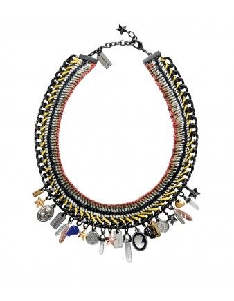 Coach Tribal Multi-Charm Necklace