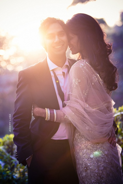 Kunal and Neha. I love everything about this pic: the light, the dress, and of course, his smile :3 #wedding #love #couple