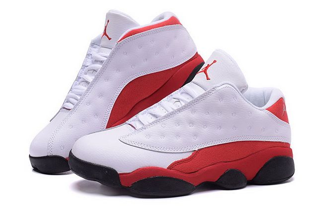 the best attitude 4629d 06f73 High Quality Air Jordan 13 XIII Low White Metallic Silver Varsity Red Black  Discount Sale