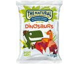 A box of 12 bags of The Natural Confectionery Company Dinosaurs Lollies.