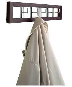 Swivel coat hook rail