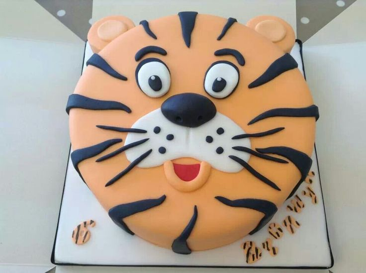 Fab tiger cake-darker orange
