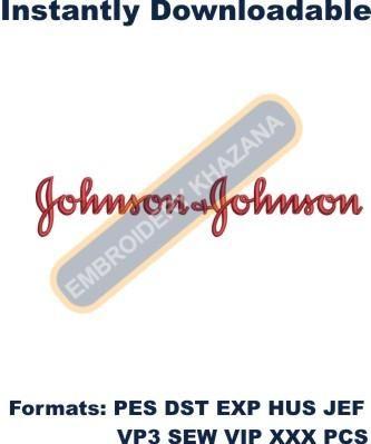 johnson johnson logo embroidery designs