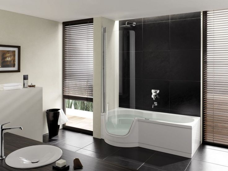 Идеи для ванной комнаты Очень популярные Правая Drain белая акриловая прямоугольная ванна для купания и черного гранита Метро Плитка стене ванной комнаты В отеле акрила Душ ванна Combo в белый цвет Classy ванной De