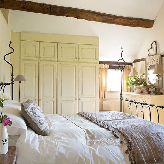 Dusky pink country bedroom | Bedroom decorating | housetohome.co.uk | Mobile