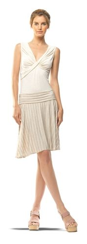 STRIPED AND FLARED SKIRT-L-BKIVOSNS from Max Studio on shop.CatalogSpree.com, your personal digital mall.
