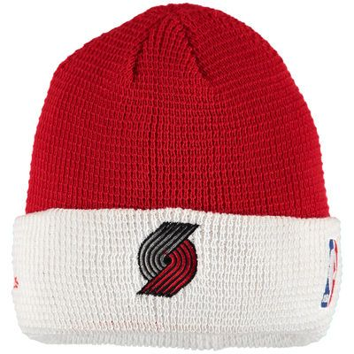 Portland Trail Blazers adidas Authentic Team Cuffed Knit Hat - Red/White