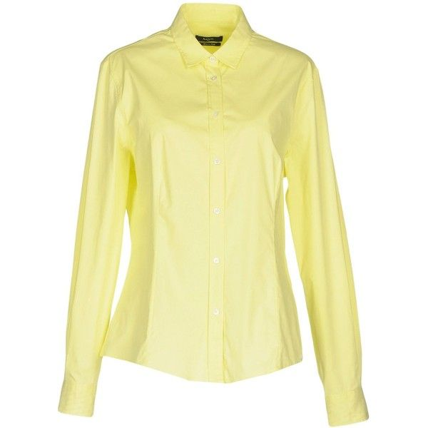 Paul Smith Black Label Shirt ($169) ❤ liked on Polyvore featuring tops, acid green, long sleeve tops, green long sleeve shirt, green top, beige long sleeve top and shirt top