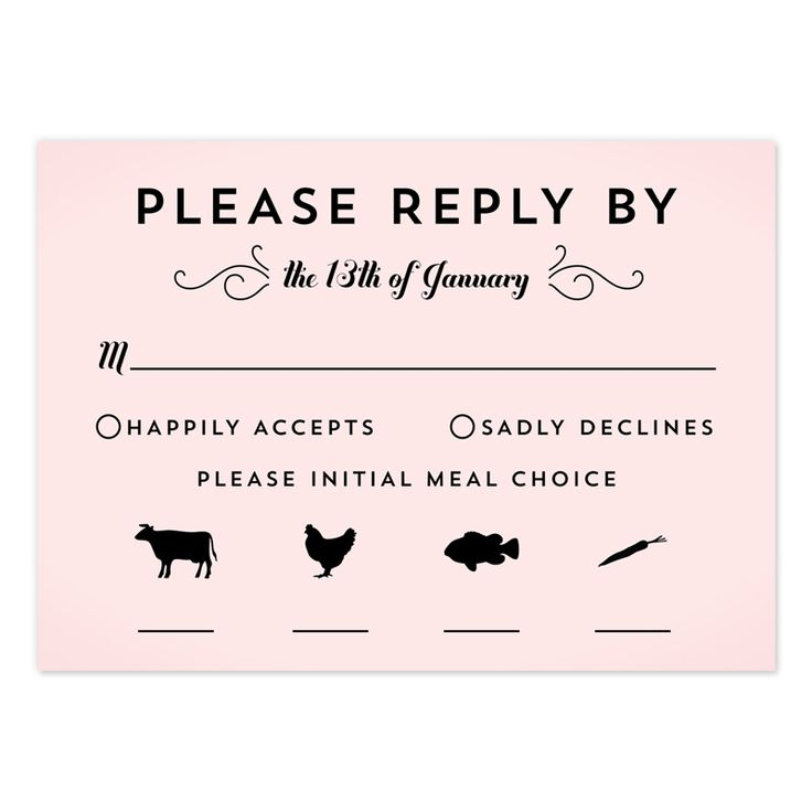Classic Penmanship Response Cards Rsvp, Wedding and Response cards - free rsvp card template