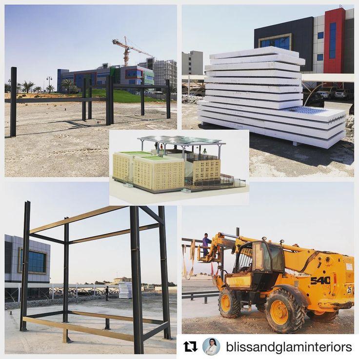 #Repost @blissandglaminteriors  Al-Bayt Al-Kamel for the Solar Decathlon Middle East 2018 starts on the campus of AURAK #sustainableliving #aurak #construction #mydubai #green #future #architecture #teamwork #sdme2018 #solardecathlonmiddleeast #solardecathlon