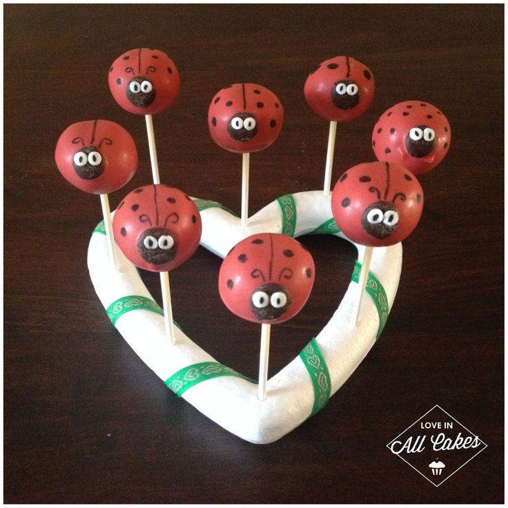 Marienkäfer / Lady Bug Cake Pops