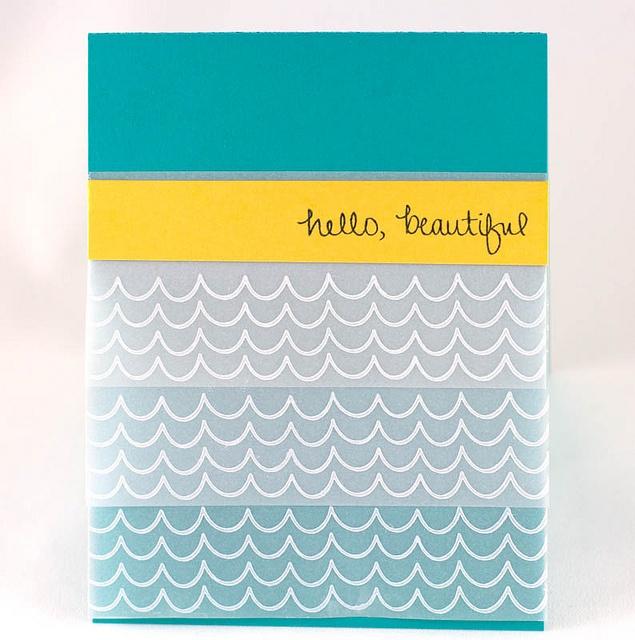 Hello Beautiful by Nina (waffleflower.com), via Flickr