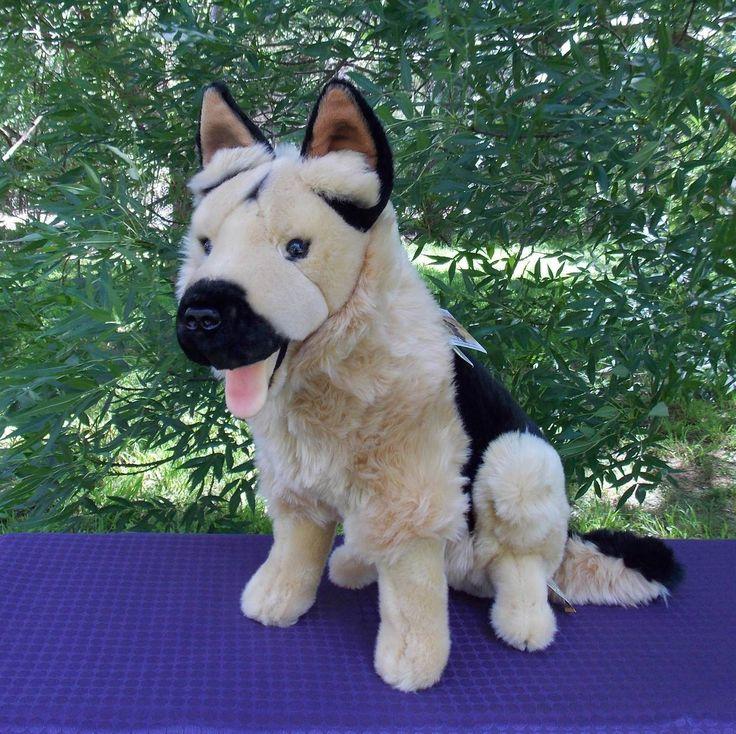 GERMAN SHEPHERD PLUSH DOG MAJOR BY BOCCHETTA PLUSH TOYS I COOL CAT COLLECTABLES