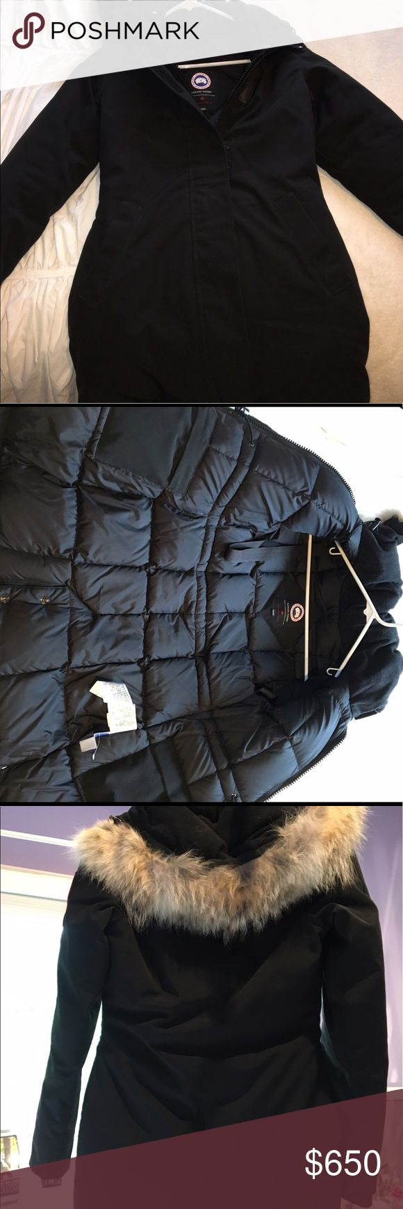 Canada Goose Victoria Parka XXS Victoria parka. In like-new condition. Size: XXS. Genuine coyote fur fleece hood. Fully functioning zipper and Velcro front. 100% authentic. Canada Goose Jackets & Coats Puffers