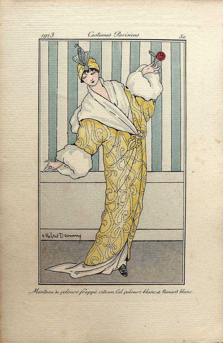 Robert Dammy, 1913 Art Deco illustration