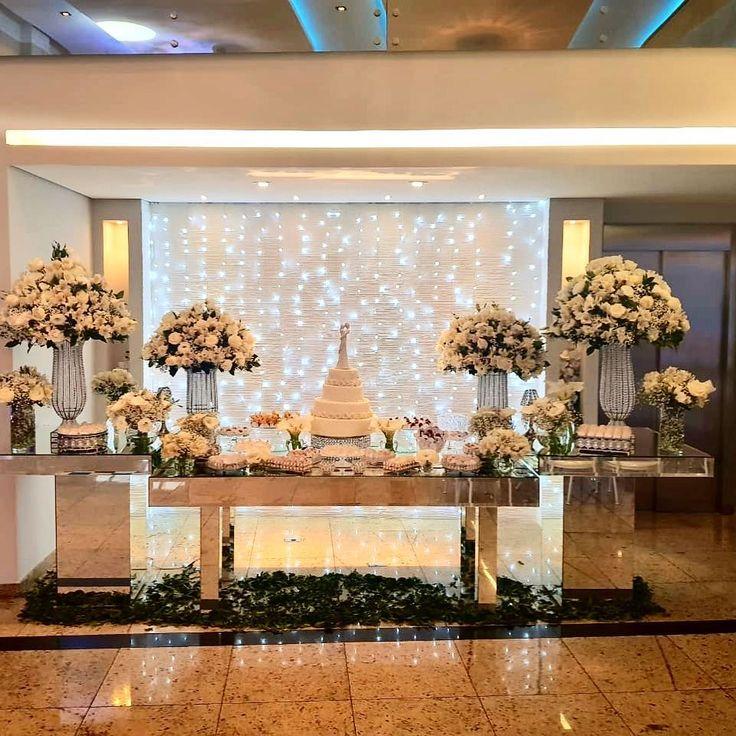 Toda Toda decoração branca! # casamento # casamento real # casamento perfeito #cas …   – decoración de fiestas
