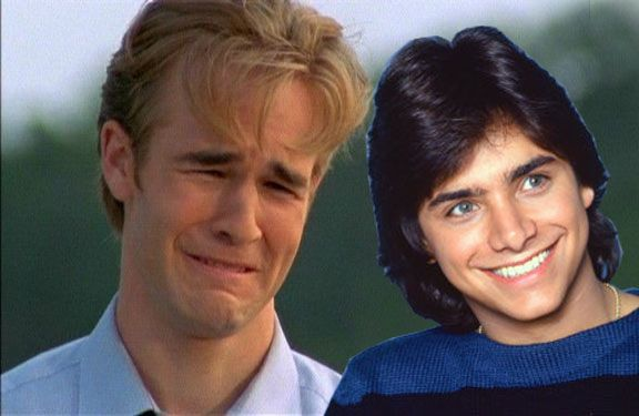 James Van Der Beek pines for John Stamos without sense of shame.