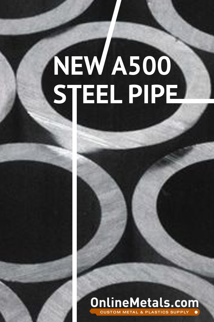 Schedule 40, ASTM A500 Grade B Structural Steel Pipe is now available at OnlineMetals.com in seven sizes! With its excellent ductility, weldability, and high strength-to-weight ratio, this pipe could be perfect for your next project.