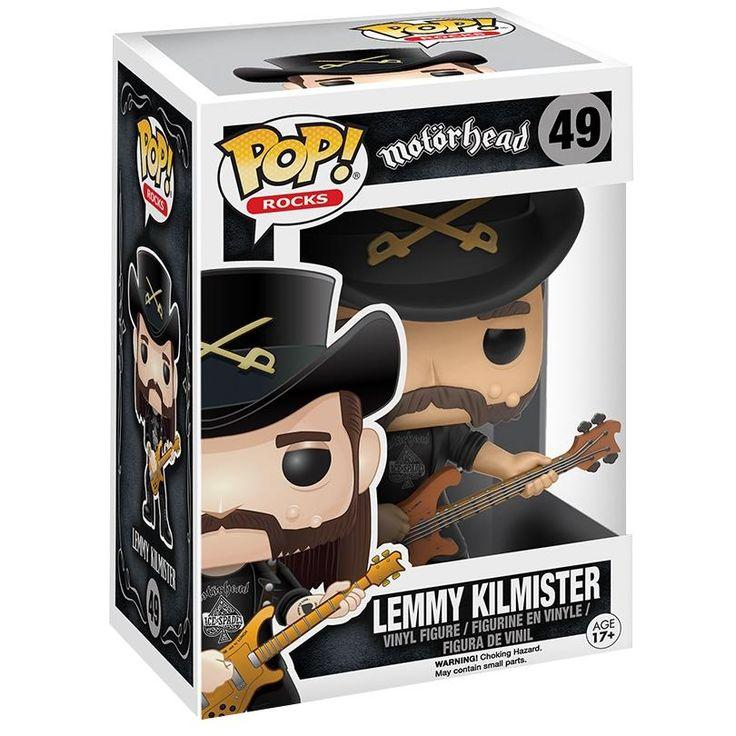 - samlerfigur - ca. 10 cm - vinylfigur nr. 49  Desværre måtte selv en af de hårdeste rock 'n' roll motherfuckers på et tidspunkt stoppe. Lemmys for tidligere død beviser endnu engang at de gode dør for ungt. Til minde om Motörhead forsangeren har Funko skabt denne figur. Hvil i fred Lemmy.  Saml dem alle! Funk Pop! figurer er blevet meget populære samlerobjekter. Det skyldes nok både at de findes i alle tænkelige genrer og temaer, og at de er nuttede at se på. De passer sagtens ind b...