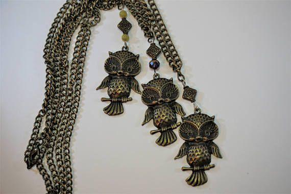 Bronze Owl Necklaces, pendants, cute, jewelry https://www.etsy.com/ca/listing/484077691/owl-necklace-bronze-owl-necklaces-owl