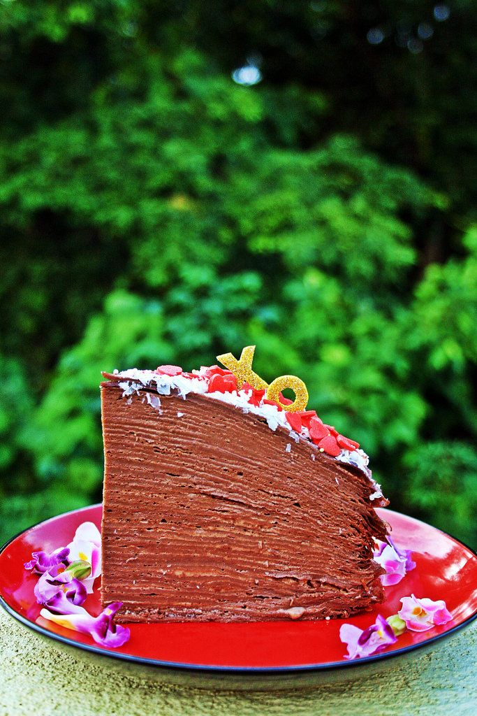 https://flic.kr/p/tWhfrf | Chocolate Mille Feuille Crêpe Cake [2/2] | Constructing the final cake was fun. Cooking the 40 or so individual crêpes was way more fun.