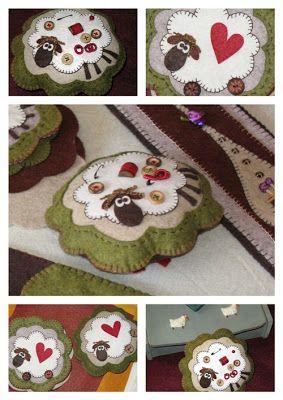 Maggi Co's Village sheep sheep sheep embroidery felt
