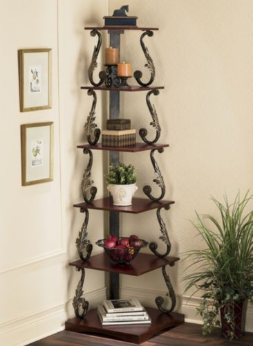 Mirielle Corner Shelf From Seventh Avenue Dw704033 Home In 2018 Shelves