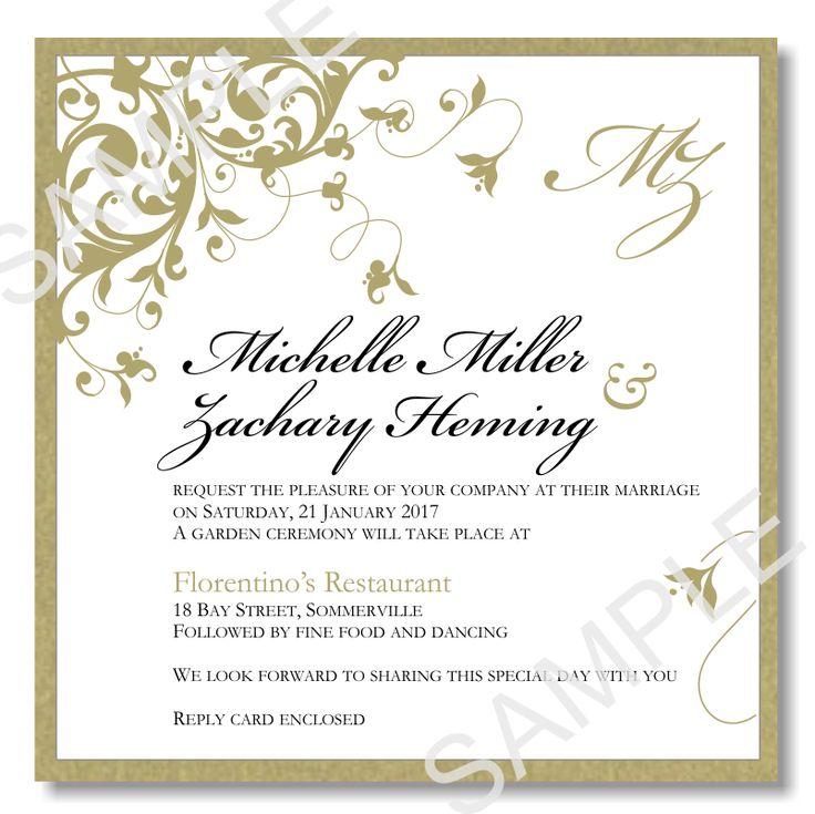 21 best Golden Wedding images on Pinterest Big shot, Celebration - format for invitation