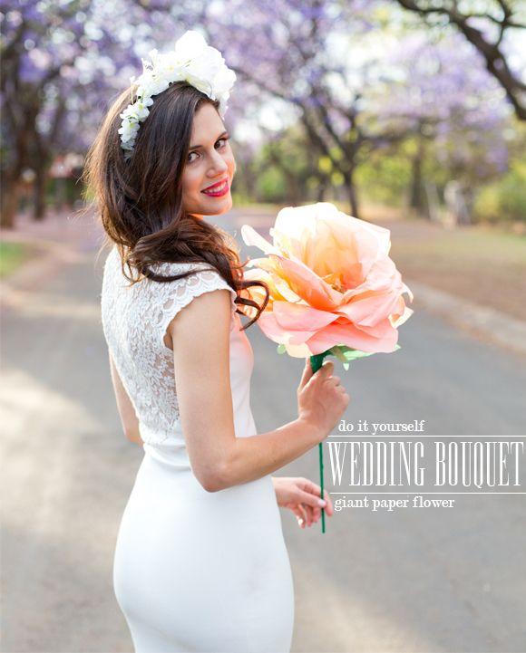 DIY: giant tissue paper flower rose (bridal wedding bouquet) madeinpretoria