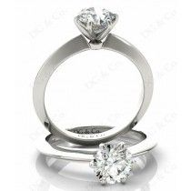 Classic Six Claw Diamond Custom engagement rings with solitaire ring
