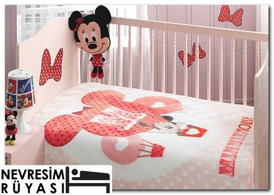 Taç Disney Minnie Balloon Baby Battaniye