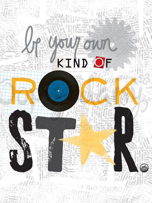 Be Your Own Kind of Rock Star - Music Posters That Stick | Oopsy daisy ---- I so want this for my classroom!