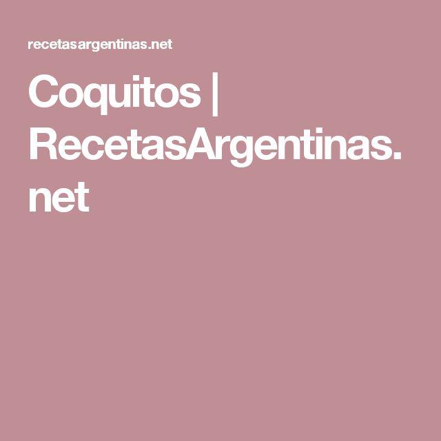Coquitos | RecetasArgentinas.net