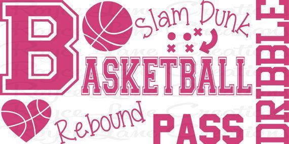 Basketball Word Art Wall Decal B31 Sports by RoyceLaneCreations