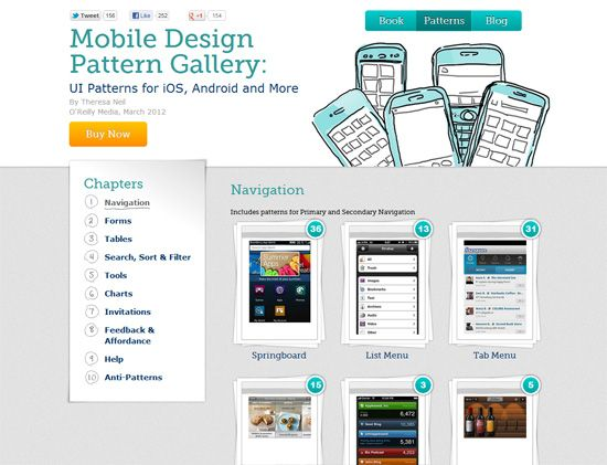 Mobile UI Design Patterns: 10+ Sites for Inspiration