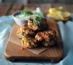 Sardine Fritters with Tzatziki #Seafood #Recipe #SouthAfrica
