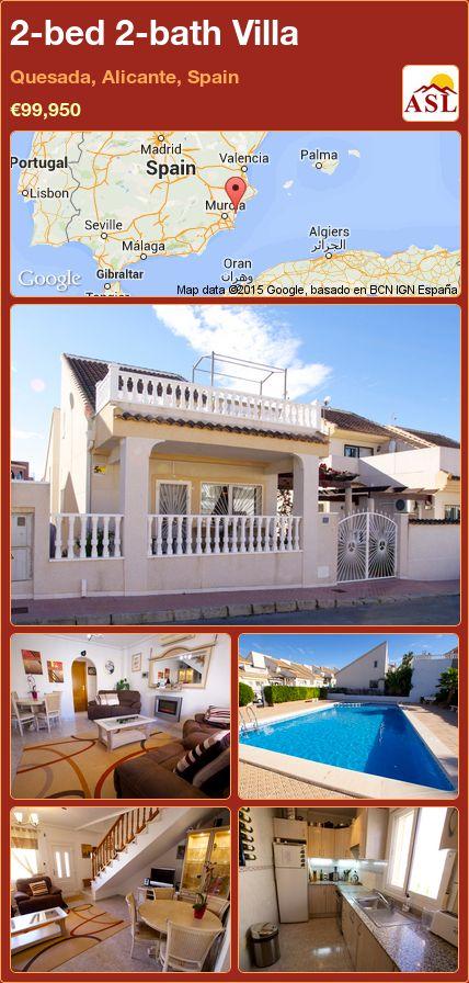2-bed 2-bath Villa in Quesada, Alicante, Spain ►€99,950 #PropertyForSaleInSpain