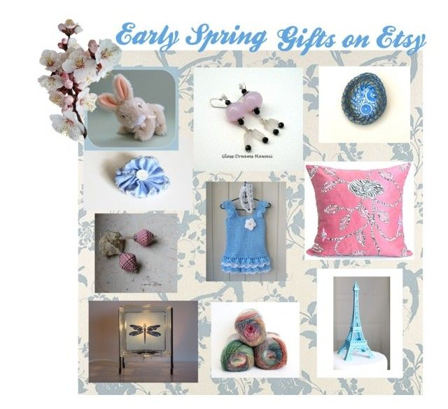 Etsy Spring Trends by glowblocks on Polyvore featuring art