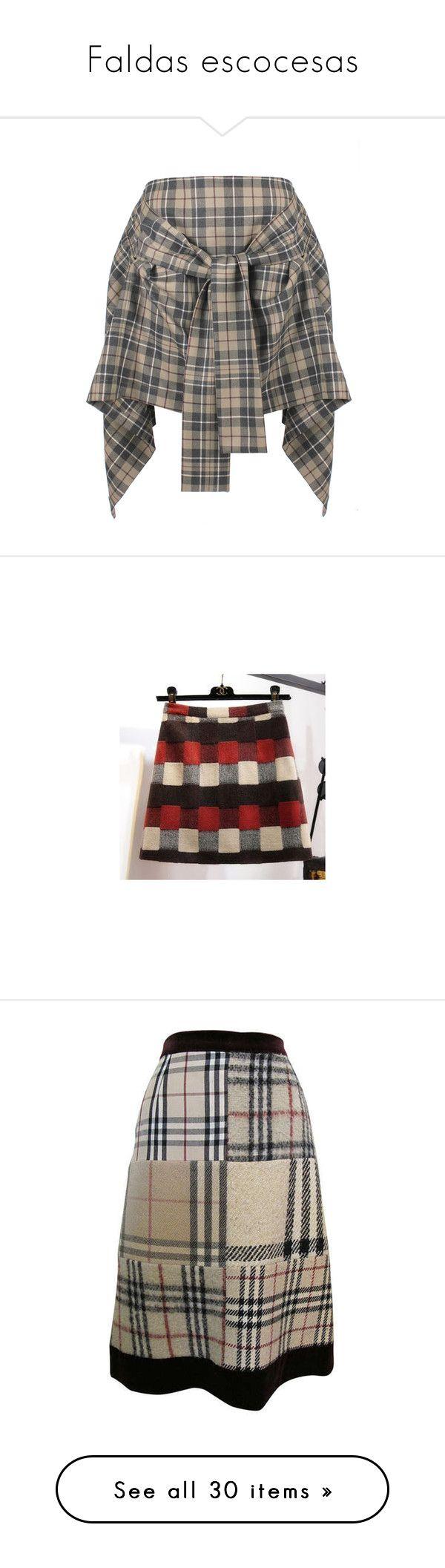 """Faldas escocesas"" by yblacasa on Polyvore featuring skirts, draped skirts, tie-dye skirt, plaid skirt, embellished skirts, vivienne westwood anglomania, mini skirts, women, short plaid skirt y green plaid mini skirt"